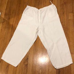 Eileen Fisher Linen White Pants